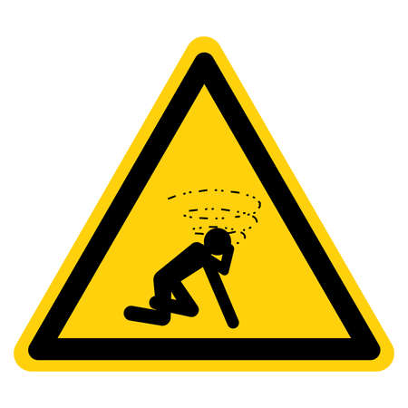 Warning Man Dizzy Suffocation Hazard Symbol Sign, Vector Illustration, Isolate On White Background Label.