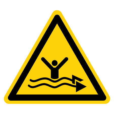 Warning Strong Current Watch Out Symbol Sign, Vector Illustration, Isolate On White Background Label.