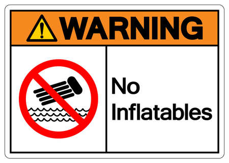 Warning No Inflatables Symbol Sign, Vector Illustration, Isolate On White Background Label. EPS10