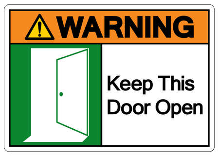 Warning Keep This Door Open Symbol Sign, Vector Illustration, Isolate On White Background Label. EPS10 Stock fotó - 154790525