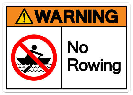 Warning No Rowing Symbol Sign, Vector Illustration, Isolate On White Background Label. EPS10