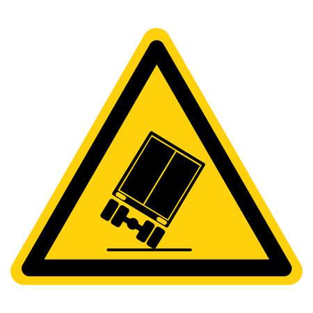 Warning Tip Over Hazard Symbol Sign, Vector Illustration, Isolate On White Background Label. EPS10