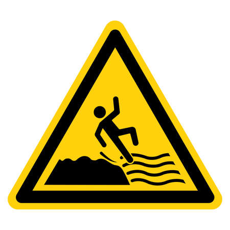 Warning Keep Off Slippery Rock Cause Fails Symbol Sign, Vector Illustration, Isolate On White Background Label. EPS10