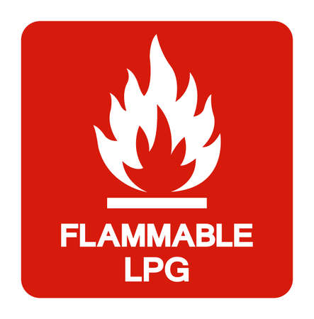 Flammable LPG Symbol Sign ,Vector Illustration, Isolate On White Background Label 向量圖像