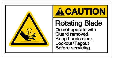 Caution Rotating Blade Symbol Sign, Vector Illustration, Isolate On White Background Label .EPS10 Иллюстрация