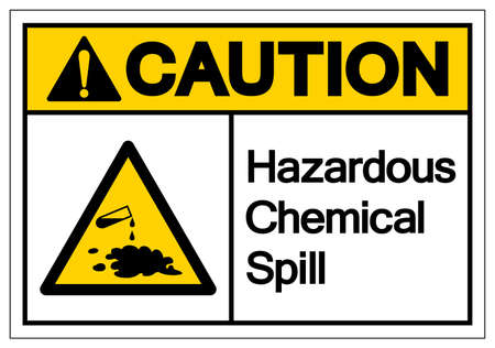Caution Hazardous Chemical Spill Symbol Sign ,Vector Illustration, Isolate On White Background Label .EPS10