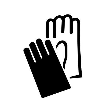 Gloves Black Icon, Vector Illustration, Isolate On White Background Label .EPS10 Illustration