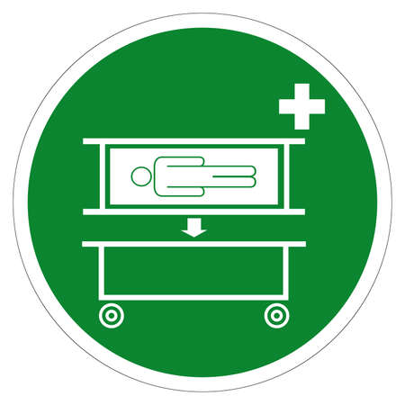 Stretcher Pick Up Point Symbol Sign, Vector Illustration, Isolate On White Background Label .EPS10