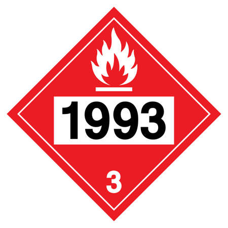 Flammable Liquids UN1993 Symbol Sign, Vector Illustration, Isolate On White Background, Label .EPS10 Vettoriali