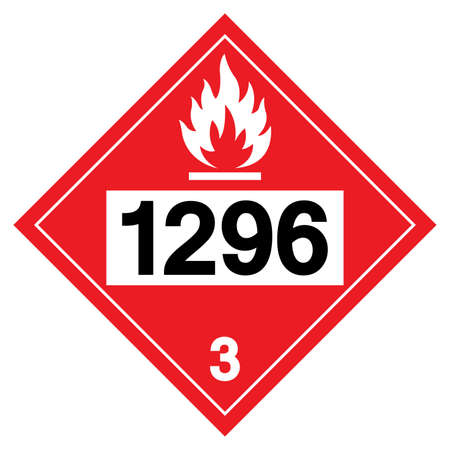 Triethylamine UN1296 Symbol Sign, Vector Illustration, Isolate On White Background, Label .EPS10