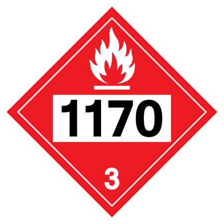 Ethyl Alcohol Ethanol UN1170 Symbol Sign, Vector Illustration, Isolate On White Background, Label .EPS10
