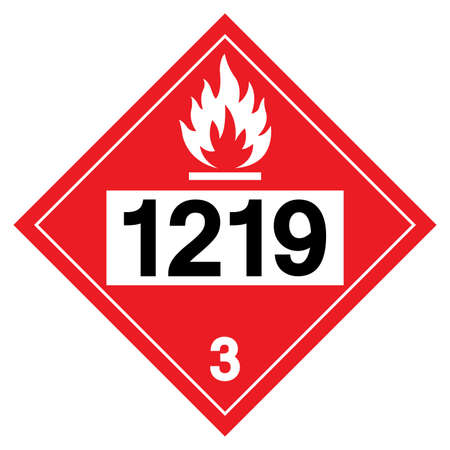 Class 3 Isopropanol UN1219 Symbol Sign, Vector Illustration, Isolate On White Background, Label .EPS10