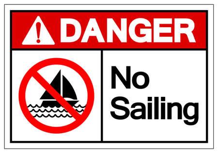 Danger No Sailing Symbol Sign, Vector Illustration, Isolate On White Background Label. EPS10 Vettoriali