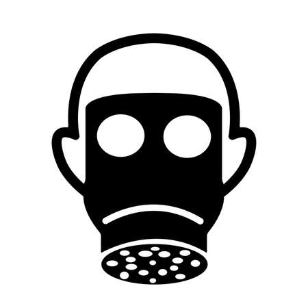 Respiratory Protection Black Icon,Vector Illustration, Isolated On White Background Label. EPS10