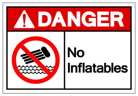 Danger No Inflatables Symbol Sign, Vector Illustration, Isolate On White Background Label. EPS10