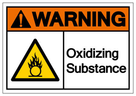 Warning Oxidizing Substance Symbol ,Vector Illustration, Isolate On White Background Label.
