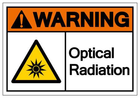 Warning Optical Radiation Symbol ,Vector Illustration, Isolate On White Background Label.