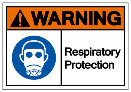 Warning Wear Respiratory Protection Symbol Sign,Vector Illustration, Isolated On White Background Label.