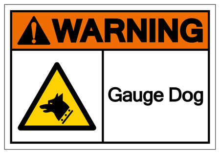 Warning Gauge Dog Symbol Sign, Vector Illustration, Isolate On White Background Label.