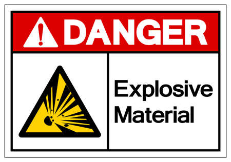 Danger Explosive Material Symbol, Vector Illustration, Isolate White On Background Label. 向量圖像