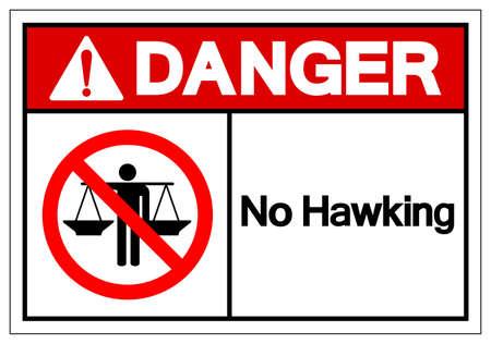 Danger No Hawking Symbol Sign, Vector Illustration, Isolate On White Background Label .