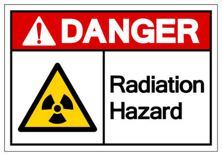 Danger Radiation Hazard Symbol Sign,Vector Illustration, Isolated On White Background Icon.