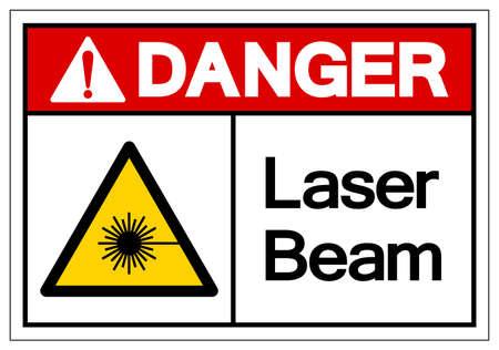 Danger Laser Beam Symbol,Vector Illustration, Isolate On White Background Label.