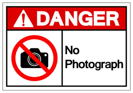 Danger No Photograph Symbol Sign, Vector Illustration, Isolate On White Background Label .
