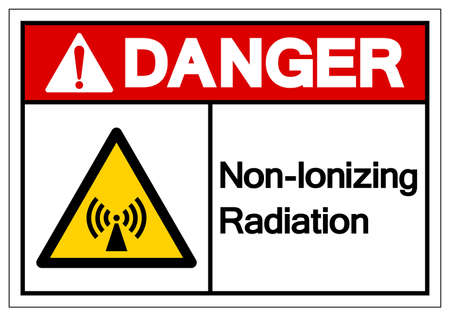 Danger Non-Ionizing Radiation Symbol, Vector Illustration, Isolate On White Background Label.