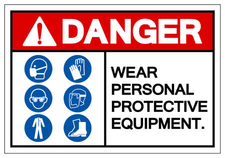 Danger Personal Protective Equipment Symbol Sign ,Vector Illustration, Isolate On White Background Label.