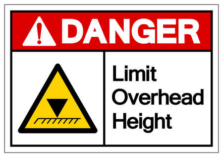 Danger Limit Overhead Height Symbol Sign, Vector Illustration, Isolated On White Background Label.
