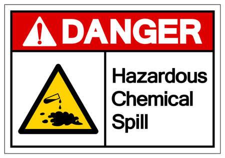 Danger Hazardous Chemical Spill Symbol Sign ,Vector Illustration, Isolate On White Background Label .