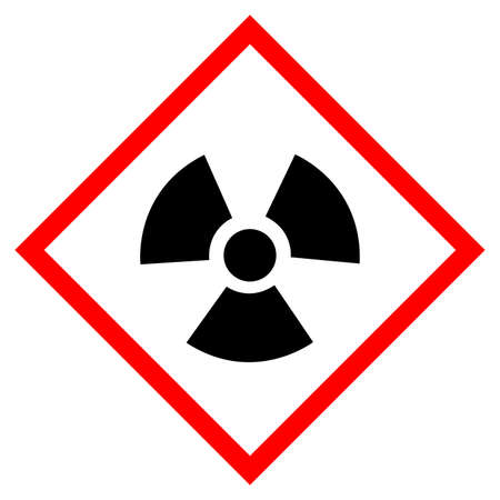 Warning Radioactive Symbol Sign, Vector Illustration, Isolate On White Background