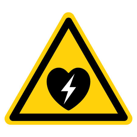 Warning AED Automated External Defibrillator Symbol Sign, Vector Illustration, Isolate On White Background Label .EPS10 向量圖像