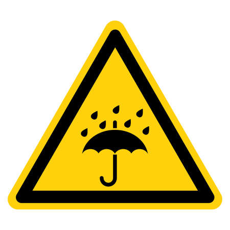 Warning Keep Away From Water  Keep Dry Symbol Sign,Vector Illustration, Isolated On White Background Label. EPS10