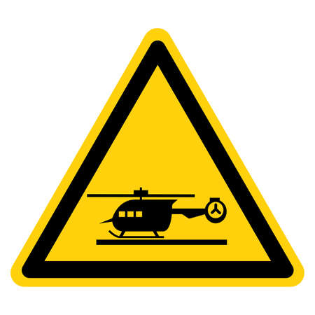 Helicopter Pad Symbol Sign, Vector Illustration, Isolate On White Background Label .EPS10