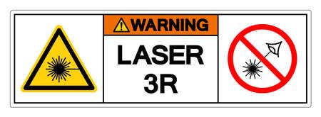 Warning Laser 3R Symbol Sign ,Vector Illustration, Isolate On White Background Label.