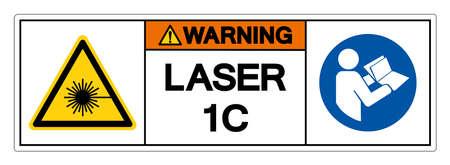Warning Laser 1C Symbol Sign ,Vector Illustration, Isolate On White Background Label. EPS10