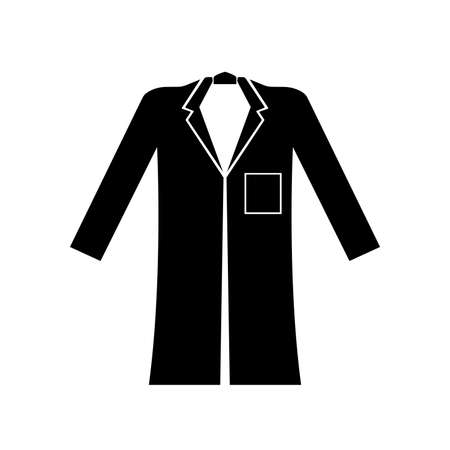 Wear Coat Black Icon,Vector Illustration, Isolated On White Background Label. EPS10 矢量图像