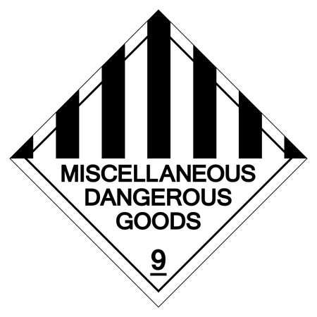Miscellaneous Dangerous Goods Symbol Sign, Vector Illustration, Isolate On White Background Label. EPS10