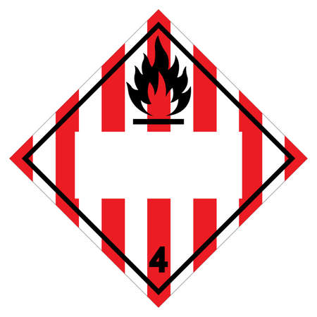 Class 4 Blank Flammable Solid Symbol Sign ,Vector Illustration, Isolate On White Background Label .EPS10