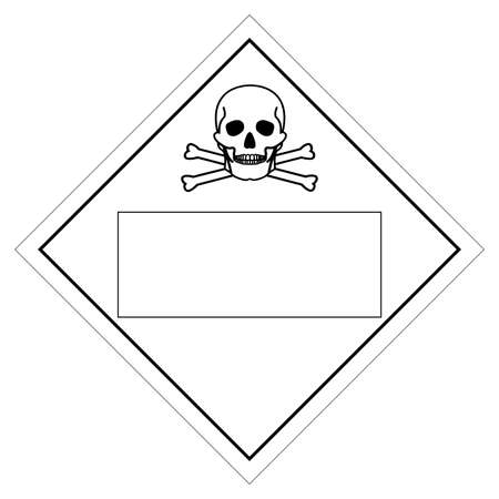 Blank Chemicals Symbol Sign, Vector Illustration, Isolate On White Background, Label .EPS10