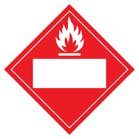 Blank Flammable Symbol Sign ,Vector Illustration, Isolate On White Background Label .EPS10