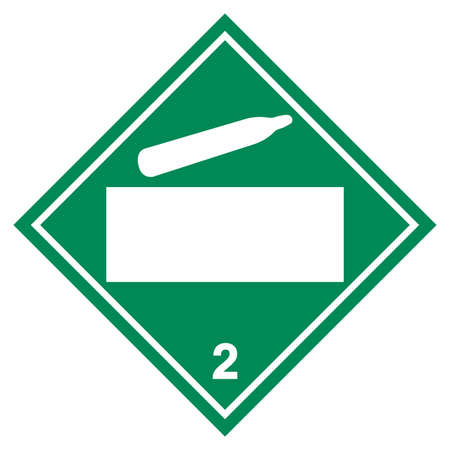 Class 2 Blank Non Flammable Gas Symbol Sign ,Vector Illustration, Isolate On White Background Label .EPS10