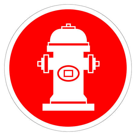Fire Hydrant Symbol Sign, Vector Illustration, Isolate On White Background Label. EPS10 Stock Illustratie