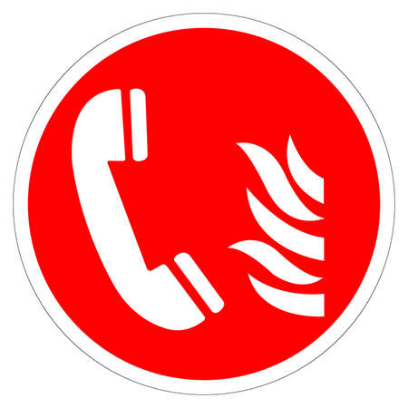 Fire Emergency Telephone Symbol Sign, Vector Illustration, Isolate On White Background Label. EPS10