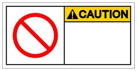 Background Caution Blank Symbol Sign,Vector Illustration, Isolate On White Background Label. EPS10