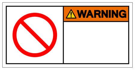 Background Warning Of Prohibition Blank Symbol Sign,Vector Illustration, Isolate On White Background Label. EPS10