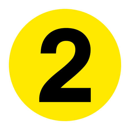 Number 2 Floor Marker Symbol, Vector Illustration, Isolate On White Background Label. EPS10 向量圖像