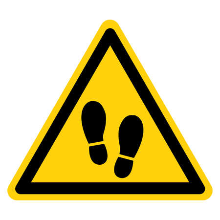 Warning Stand Here Symbol Sign ,Vector Illustration, Isolated On White Background Label. EPS10